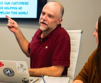 Worth Powers engaged in SEO training